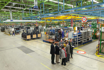 Editors tour the massive press manufacturing facilities in Wieslock-Walldorf