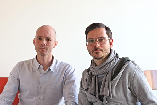 At left is editor-in-chief Greg J. Smith with creative director Alenxander Scholz