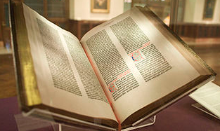 Gutenberg Bible the original printed book