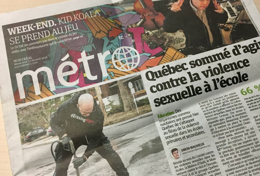 Metro Montreal one of 30 Newspapers