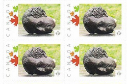 Stamps with Macdonald's head off
