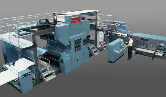 Timson offset book press with zero make-ready